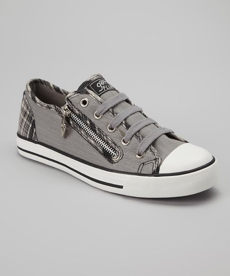 Black & White Plaid Elwood Sneaker - Women