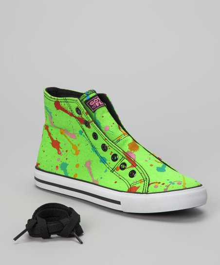Green Epic Neon Hi-Top Sneaker - Women