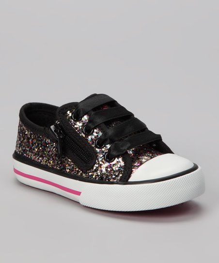 Black Fairy Dust Sneaker - Kids