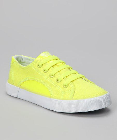 Neon Yellow Sunrise Sneaker