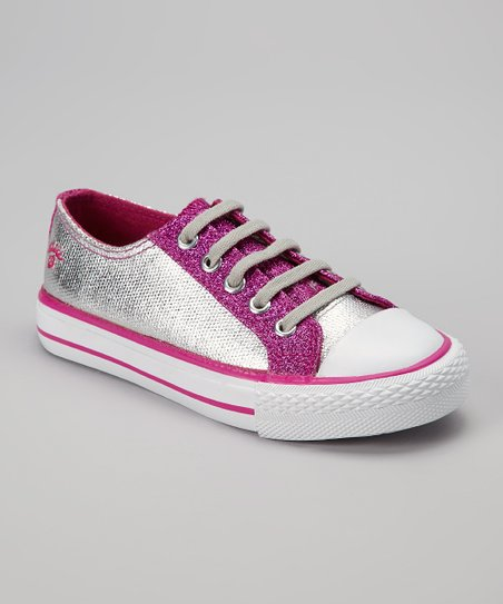 Hot Pink Twisty Shimmer Sneaker