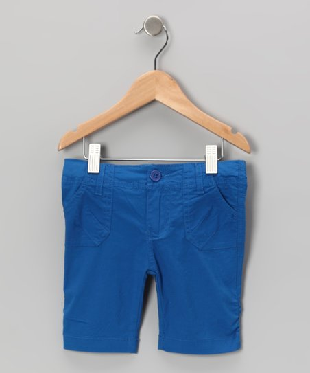 Royal Poplin Bermuda Shorts - Toddler & Girls