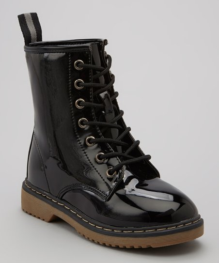 Black Alyson Hi-Top Boot