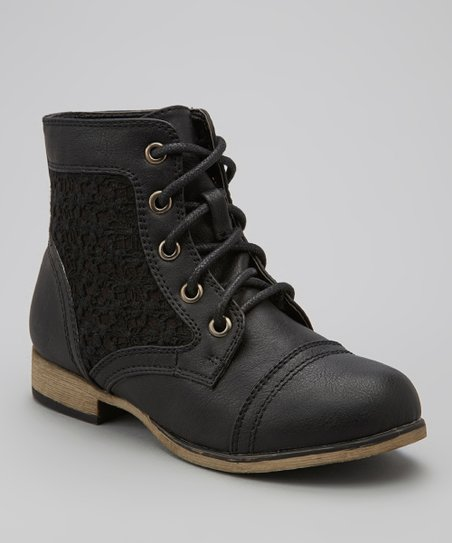 Black Chapter Lace Boot