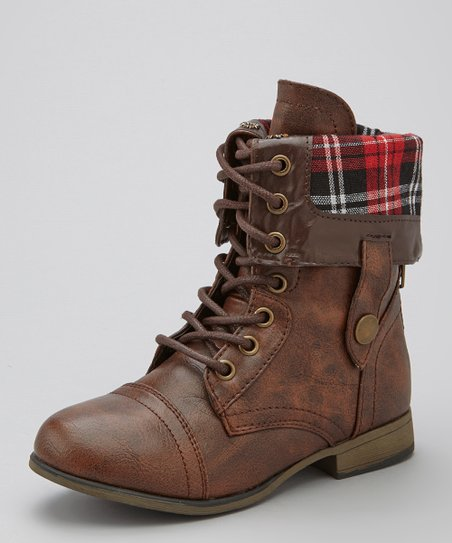 Brown Plaid Legend Boot