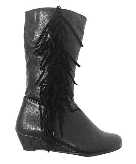 Black Chloe Fringe Boot
