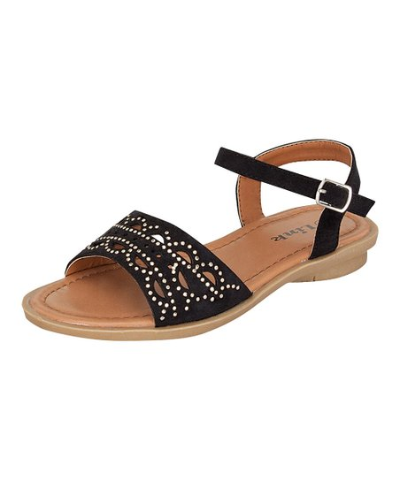 Black Indie Buckle Sandal