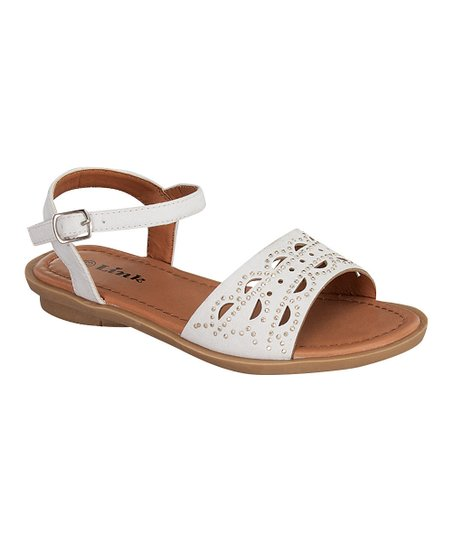 White Indie Buckle Sandal
