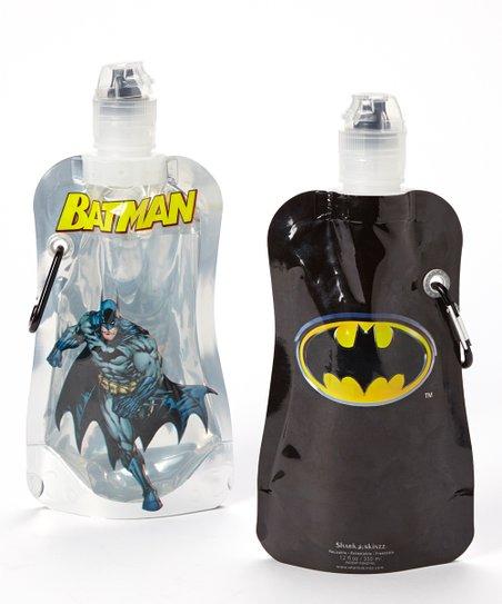 Batman 12-Oz. Foldable Bottle – Set of Two