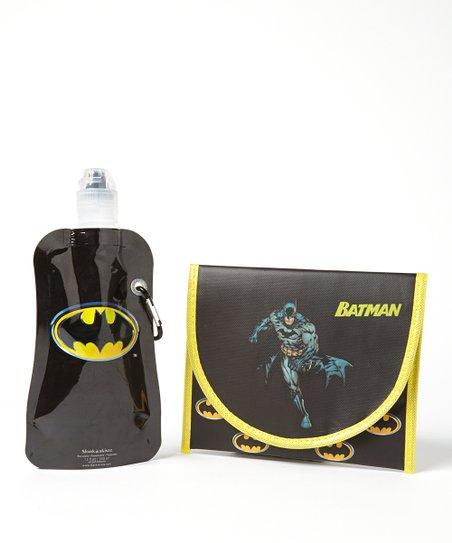 Batman 12-Oz. Foldable Bottle & Sandwich Bag