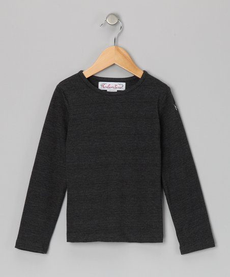 Charcoal Long-Sleeve Tee - Toddler & Girls
