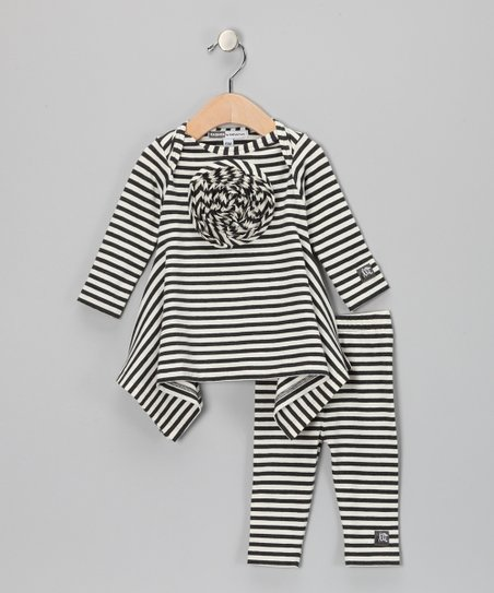 Charcoal & Milk Gerbera Tunic & Leggings - Infant & Toddler