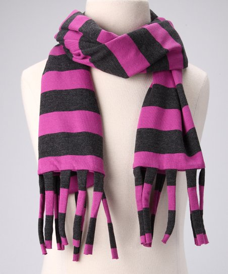 Charcoal &amp; Berry Tube Scarf