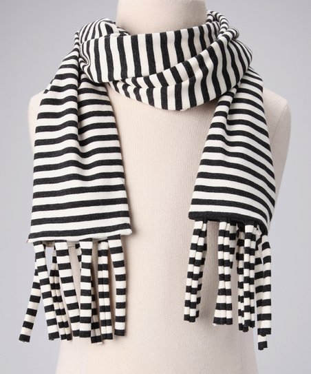 Charcoal & Milk Tube Scarf
