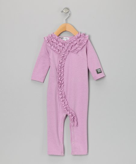 Grape Lurex Holly Playsuit - Infant