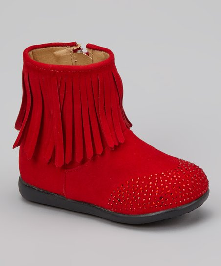 Red Kiki Fringe Boot