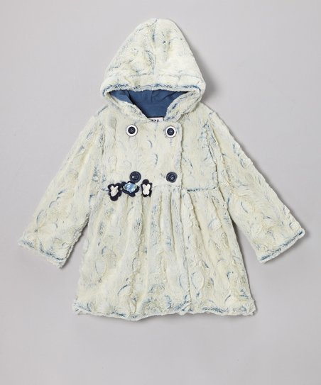 Denim Crush Faux Fur Mary-Jayne Coat - Infant & Toddler