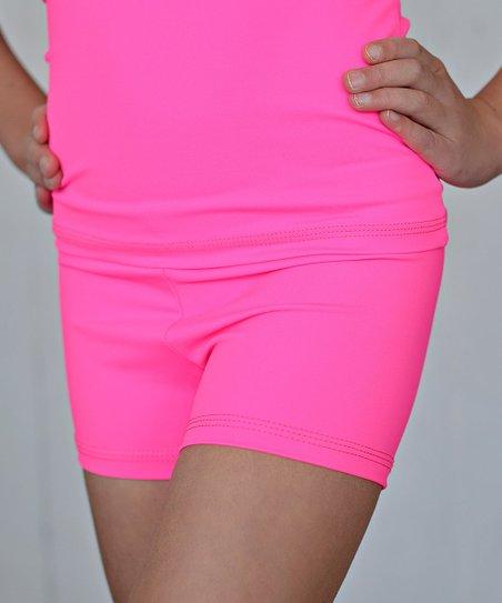 Hot Pink Dance Shorts - Toddler & Girls