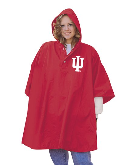 Indiana Hoosiers Tough Hooded Poncho - Adult