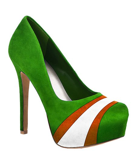 Miami Hurricanes Green & Orange Suede Pump