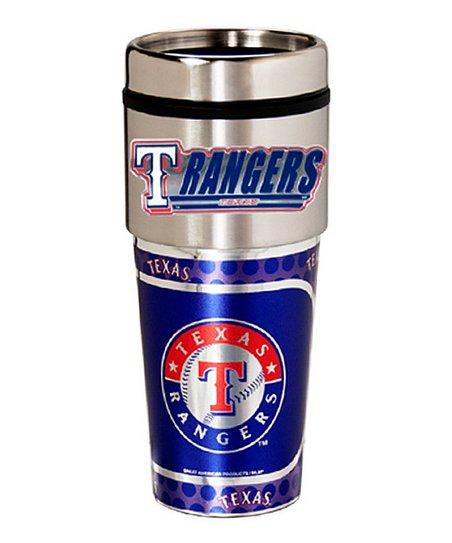 Texas Rangers Stainless Steel Travel Tumbler
