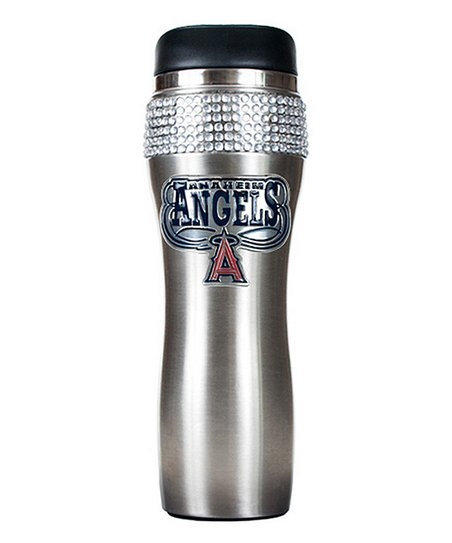 Los Angeles Angels Stainless Steel Bling Travel Tumbler