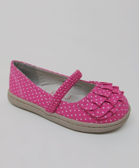 Pink Polka Dot Love Flat