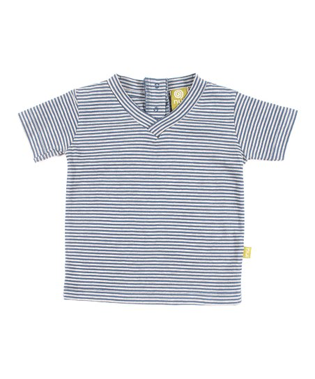Sea Stripe Organic V-Neck Tee - Infant, Toddler & Boys