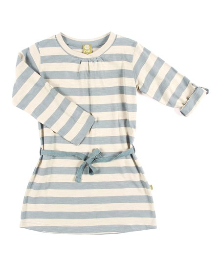 Teal Stripe Organic Swing Dress - Infant