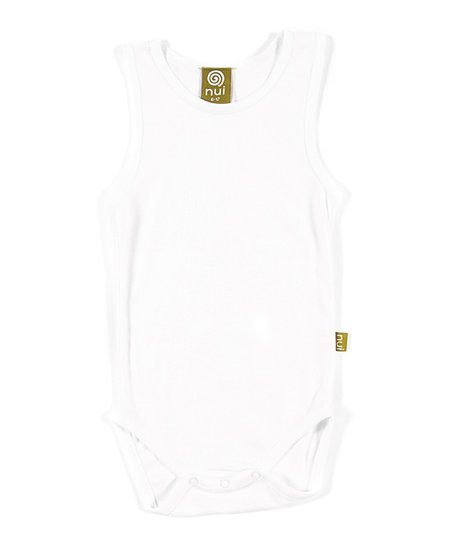White Ribbed Organic Bodysuit - Infant
