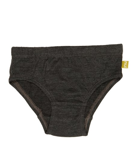 Charcoal Merino Organic Underwear - Toddler & Girls