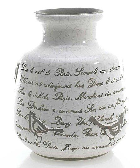 White Songbird Vase
