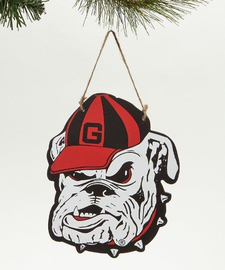 Georgia Mascot Wood Ornament