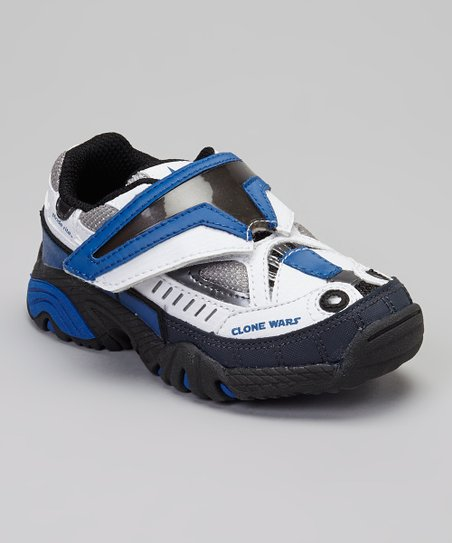 White & Royal Blue Light-Up Captain Rex Sneaker