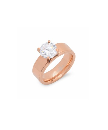 Rose Gold Solitaire Band