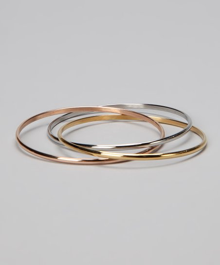 Tricolor Layered Bangle