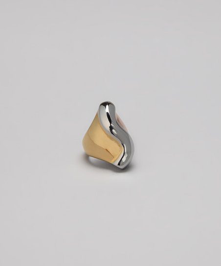 Tricolor Serpentine Cocktail Ring