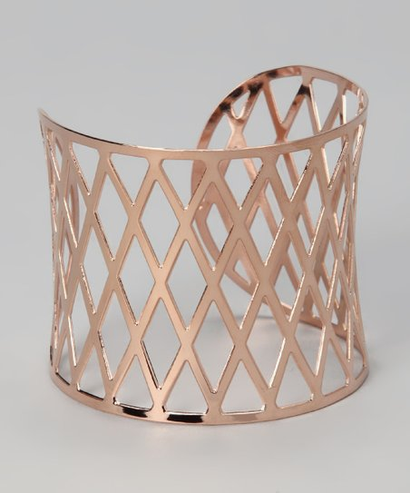 Rose Gold Crisscross Cutout Cuff