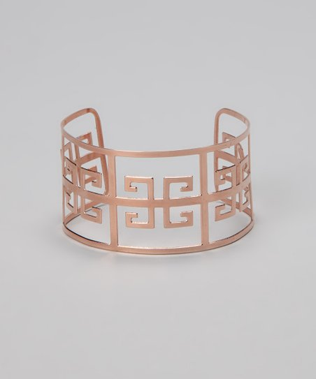 Rose Gold Greek Key Cuff