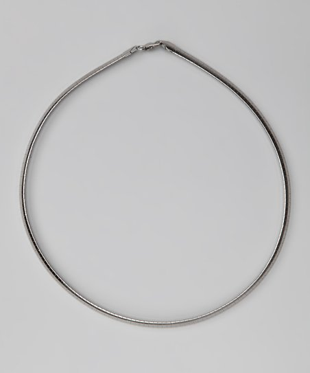 Silver Flat Omega Necklace