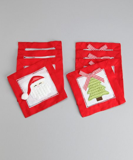 Santa & Tree Coaster - Set of Eight