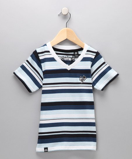 Navy Blue Stripe Tee