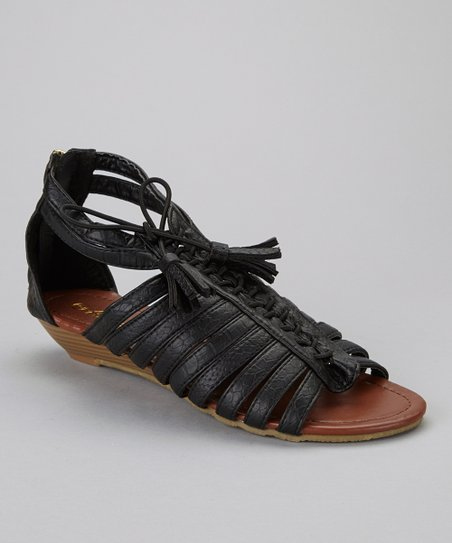 Black Simon-1 Gladiator Sandal