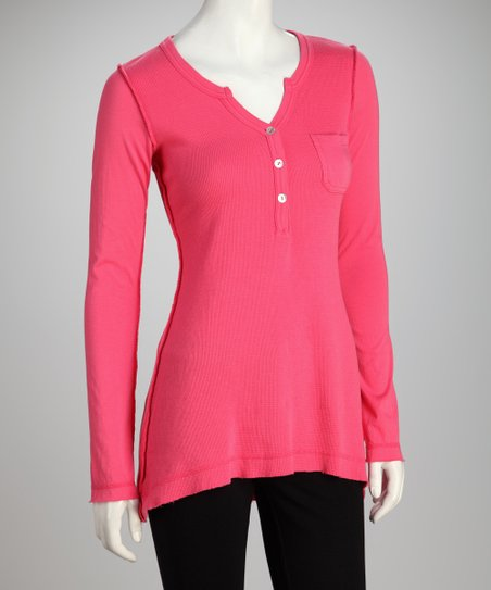 COIN 1804 Poppy Hi-Low Henley