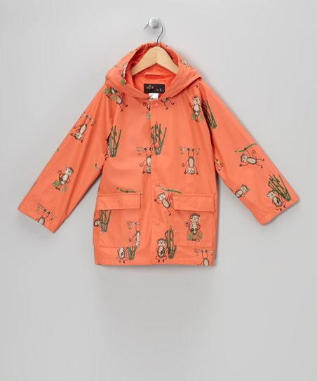 Coral Monkeys Raincoat - Infant, Toddler & Kids