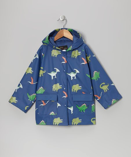 Blue Dinosaurs Raincoat - Infant, Toddler & Kids