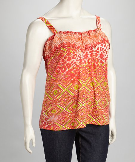 Orange & Kiwi Plus-Size Tank
