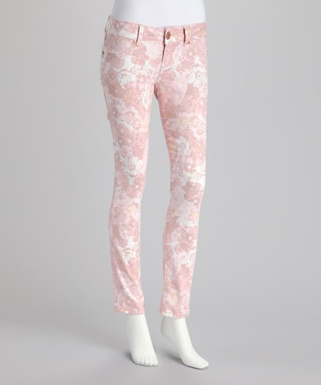 Blush Floral Skinny Pants