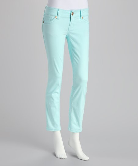 Pale Blue Skinny Pants