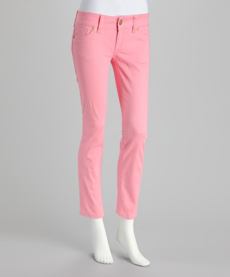 Pale Pink Skinny Pants